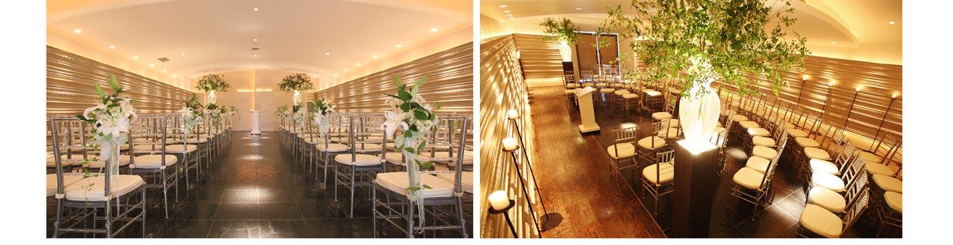 ザ マグリット | 岡山県岡山市の結婚式場・パーティーウェディング・おもてなしウェディング ウェディングロードスタイル 半円型挙式スタイル